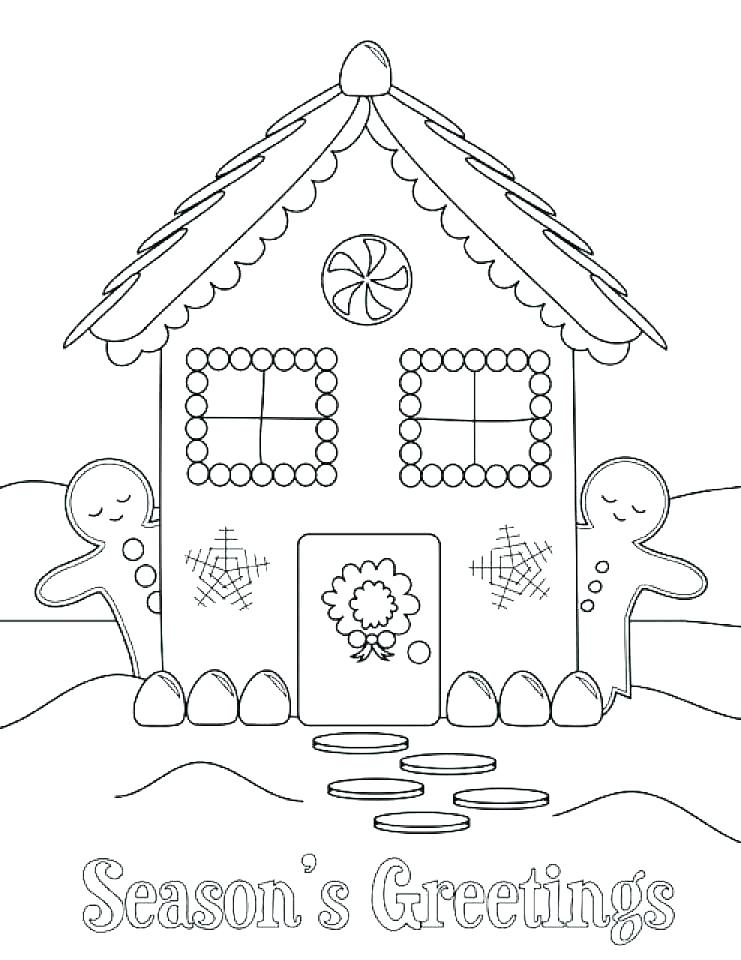 741x960 Gingerbread Coloring Pages Coloring Pages Of Gingerbread Houses