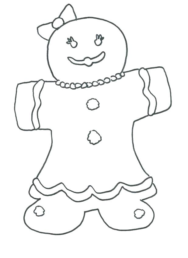 618x847 Gingerbread Man Color Page Gingerbread Man Story Printable