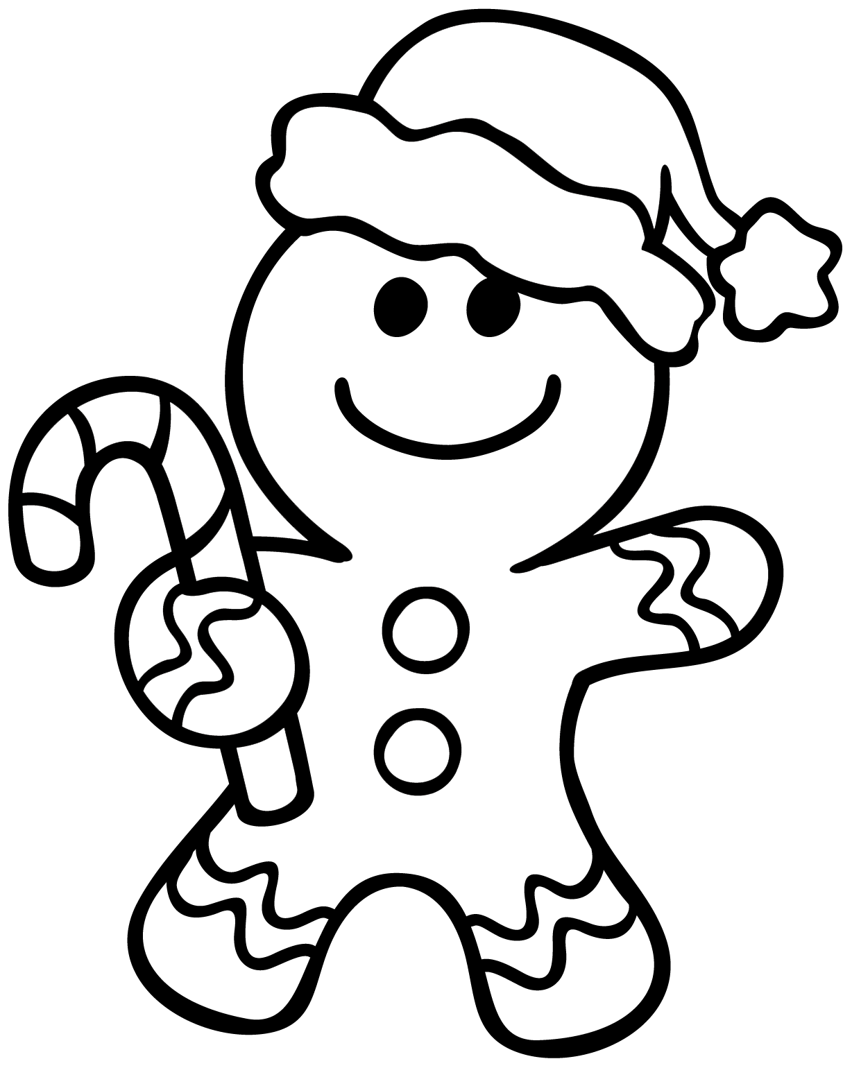 1228x1540 Gingerbread Man Coloring Page