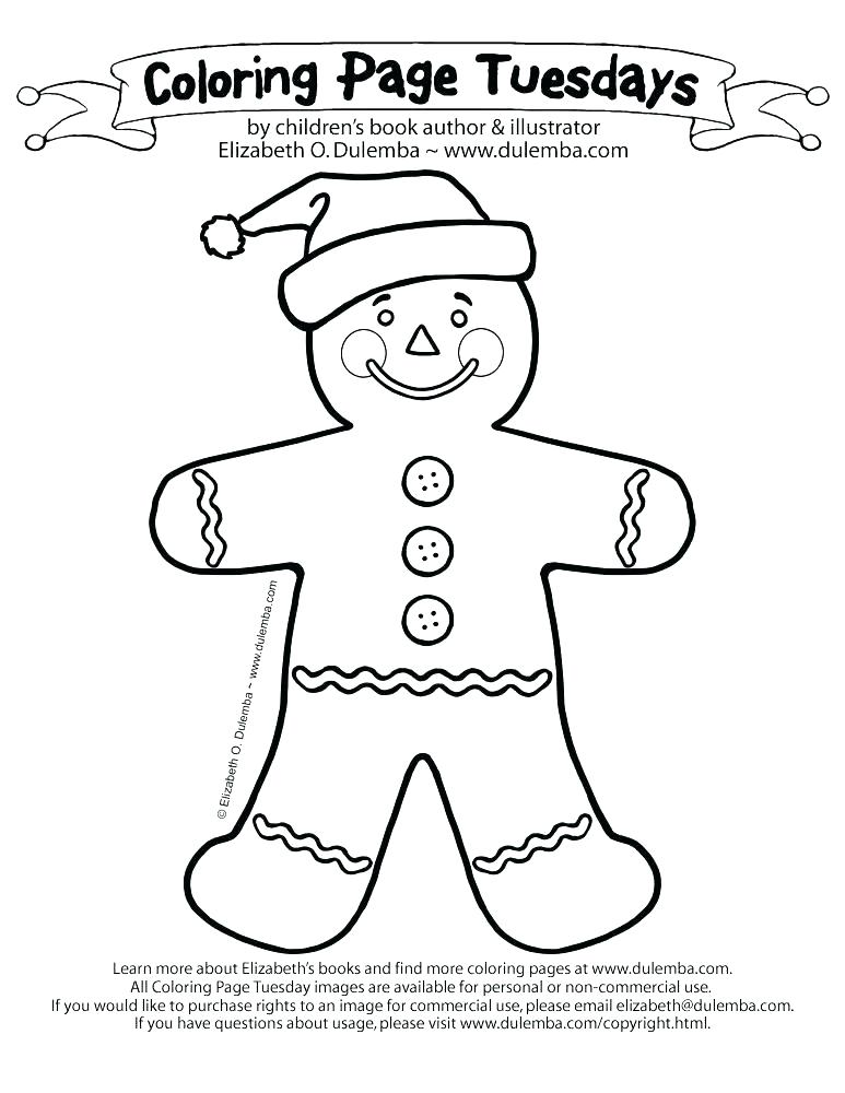 773x1000 Gingerbread Man Coloring Page Printable Best With Additional Pages