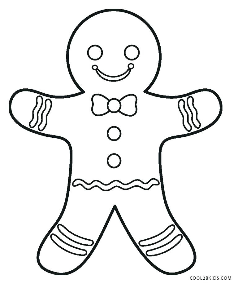 769x916 Gingerbread Man Coloring Pages Printable