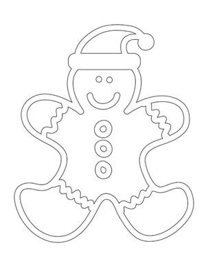 300x389 Gingerbread Man Coloring Sheet Printable