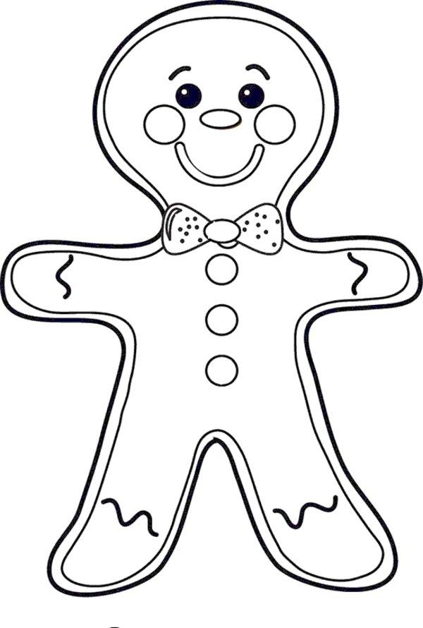 600x890 Gingerbread Man Cookie Coloring Page Allmadecine Weddings