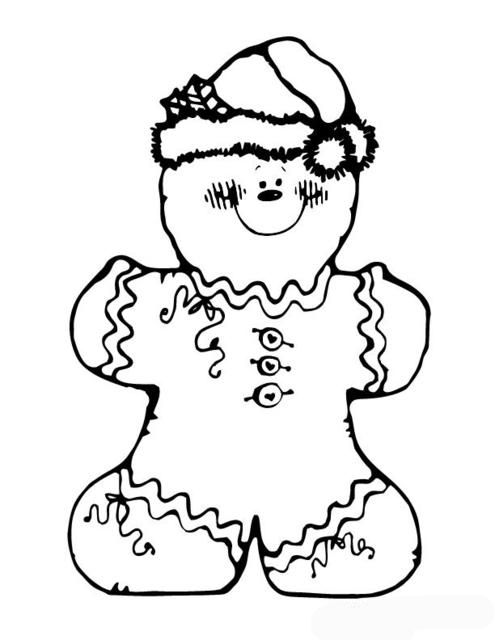 495x640 Cute Gingerbread Man Coloring Pages Printable