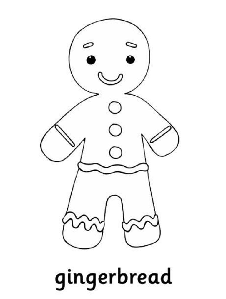 768x1017 Printable Gingerbread Man Coloring Pages For Kids