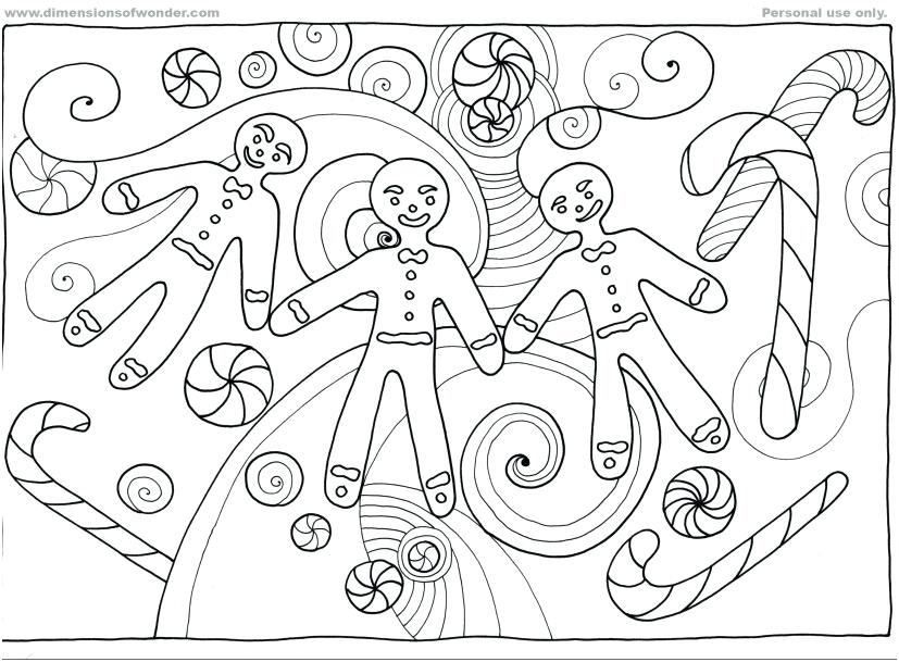 827x609 Gingerbread Man Coloring Pages Printable Yoschool Site