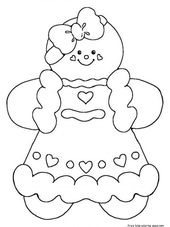 550x733 Printable Gingerbread Man Coloring Pages For Kidsfree Printable