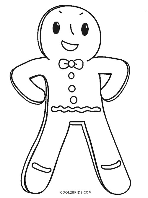 501x670 Free Printable Gingerbread Man Coloring Pages For Kids