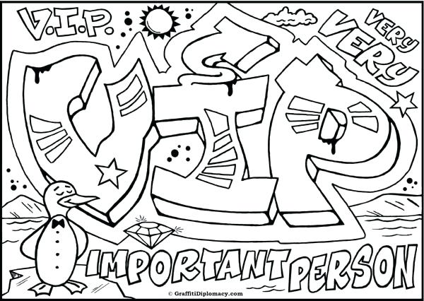 600x426 Graffiti Color Pages Graffiti Coloring Pages Free Printable