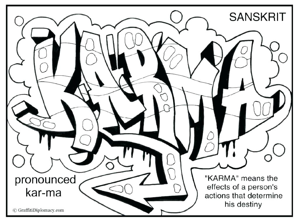the best free graffiti coloring page images. download from