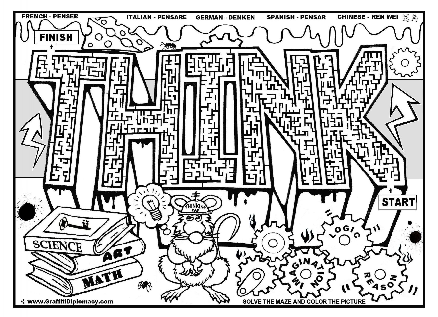 1771x1281 Awesome Of Printable Graffiti Coloring Pages Adults Printablee