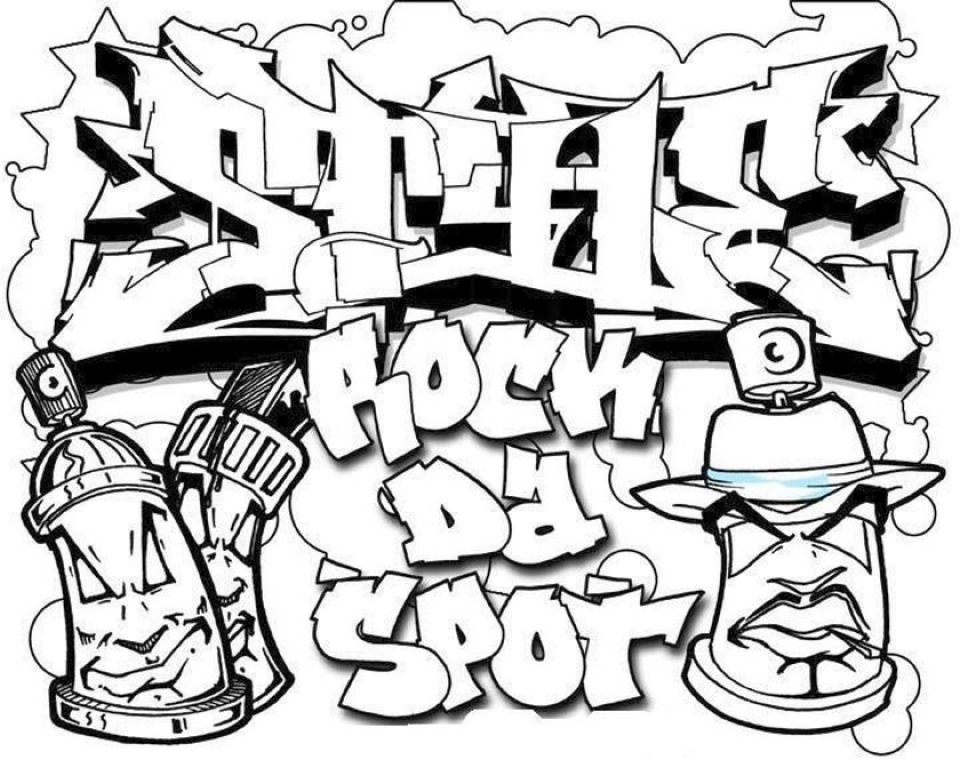960x768 Graffiti Coloring Pages Pleasing Get This Printable Graffiti