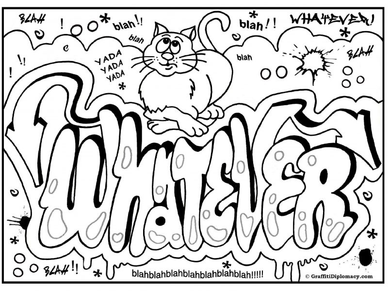 800x600 Simple Ideas Graffiti Coloring Pages Graffiti Coloring Page Free