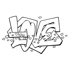 230x230 Top Free Printable Graffiti Coloring Pages Online