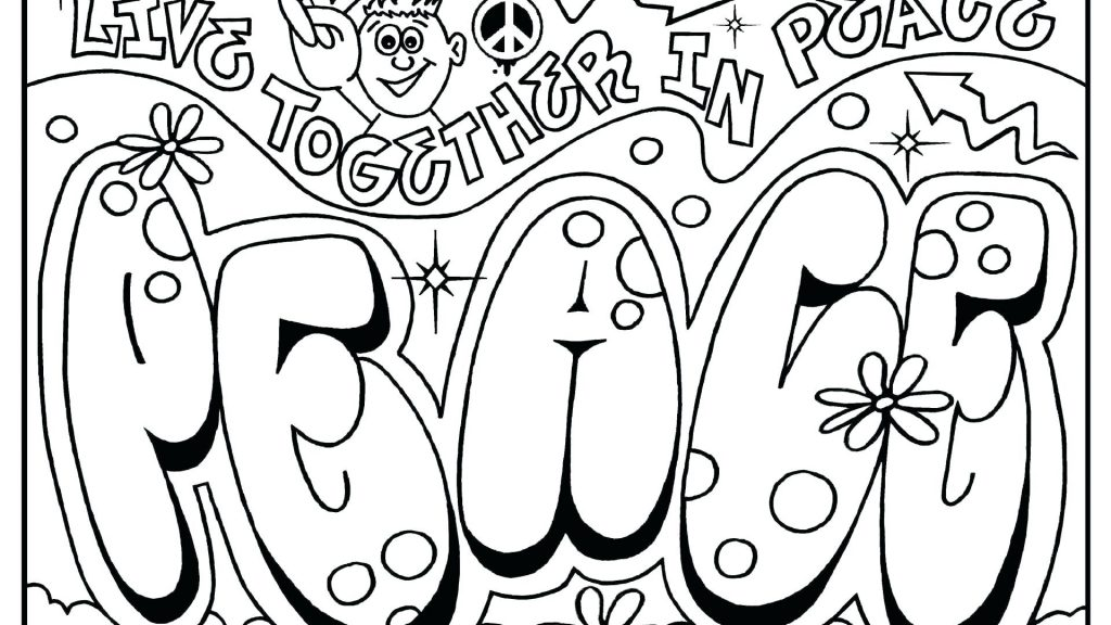 1024x576 Coloring Pages Graffiti Coloring Pages Drawn Page Pencil Free
