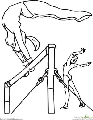 Printable Gymnastics Coloring Pages