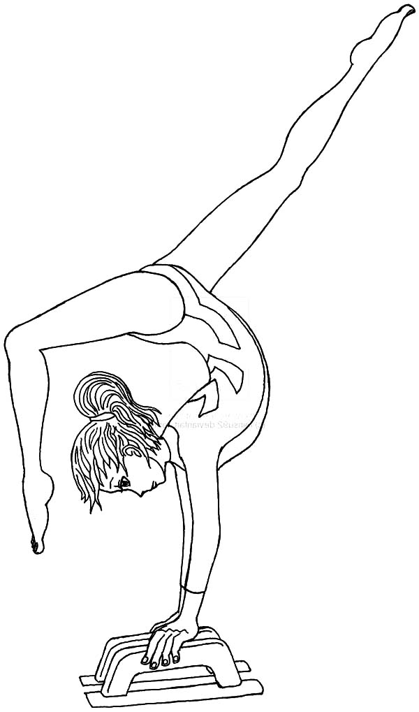 600x1019 Gymnastics Coloring Pages