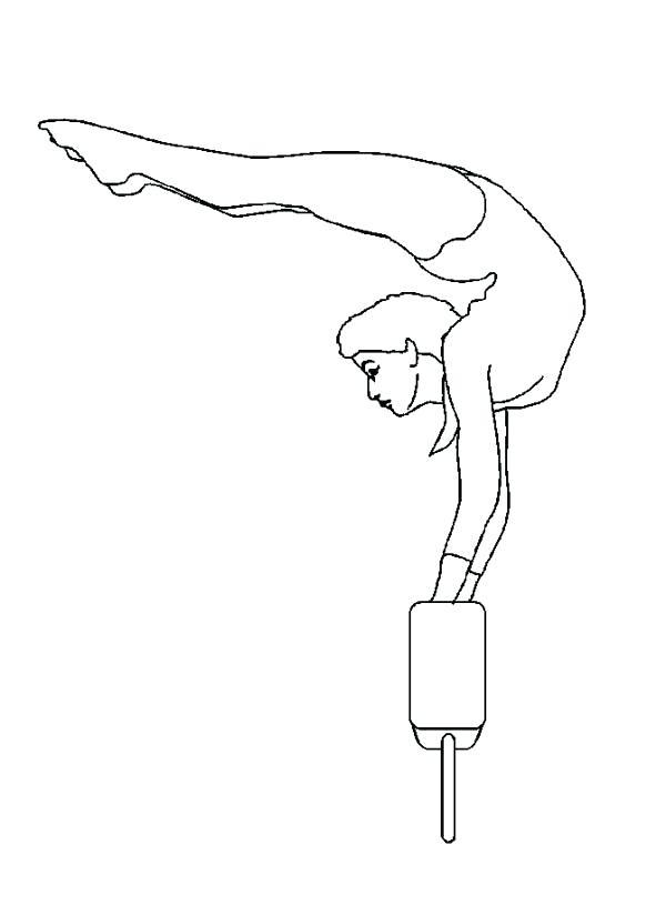 600x815 Gymnastics Coloring Pages Printable Gymnastics Coloring Pages