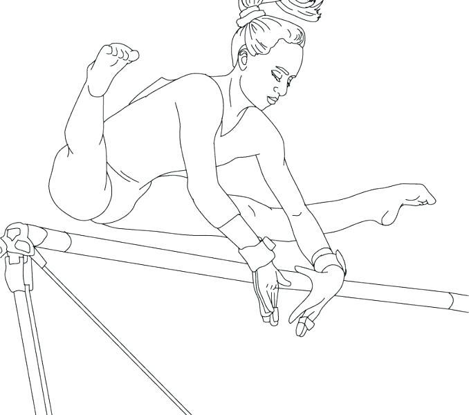 678x600 Gymnastics Coloring Pages Printable Gymnastics Preschool