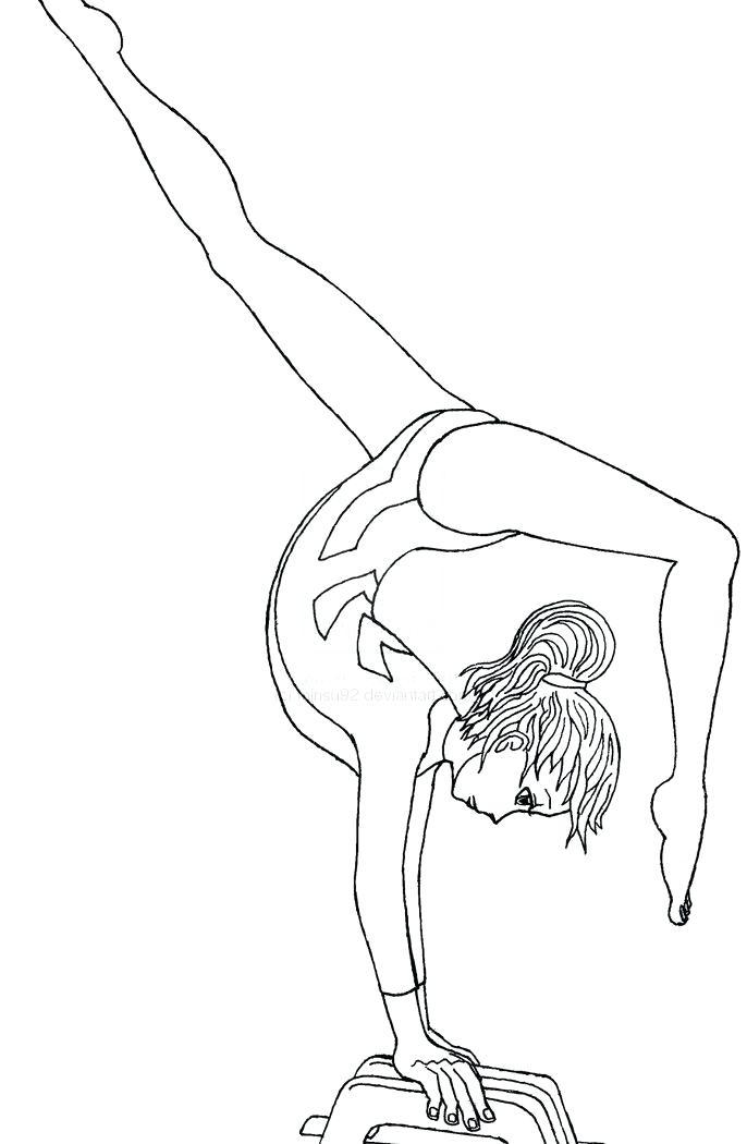 686x1050 Printable Gymnastics Coloring Pages Hello Kitty Gymnastics