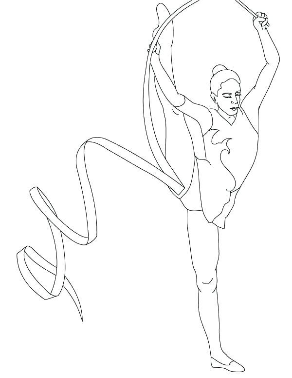 600x775 Printable Gymnastics Coloring Pages Page Preschool Free Printable