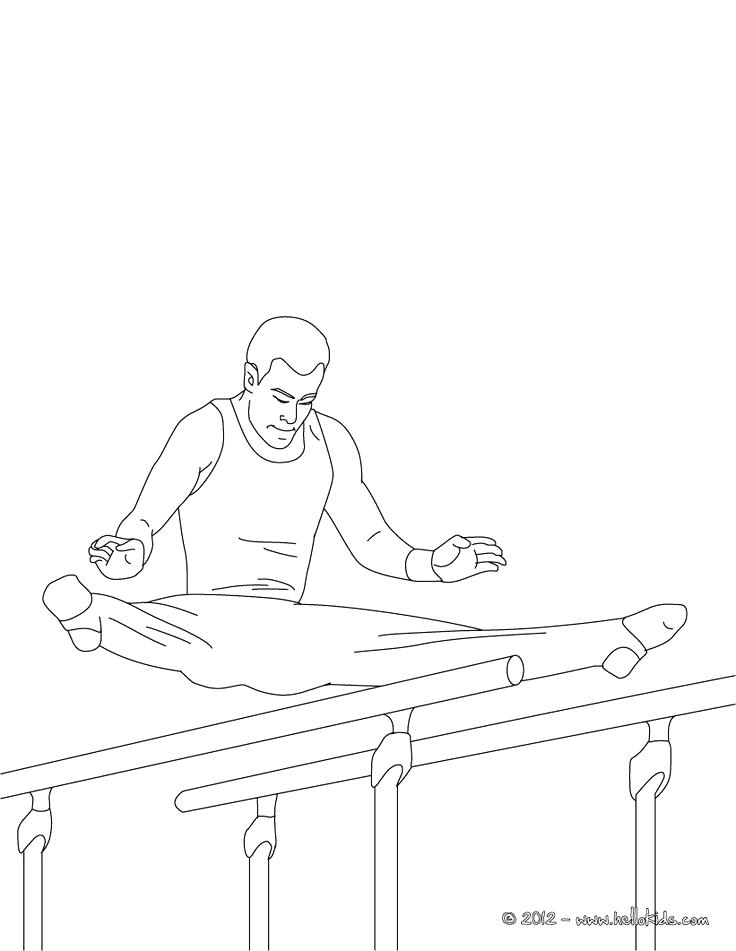 736x951 Printable Gymnastics Coloring Pages Parallel Bars Artistic