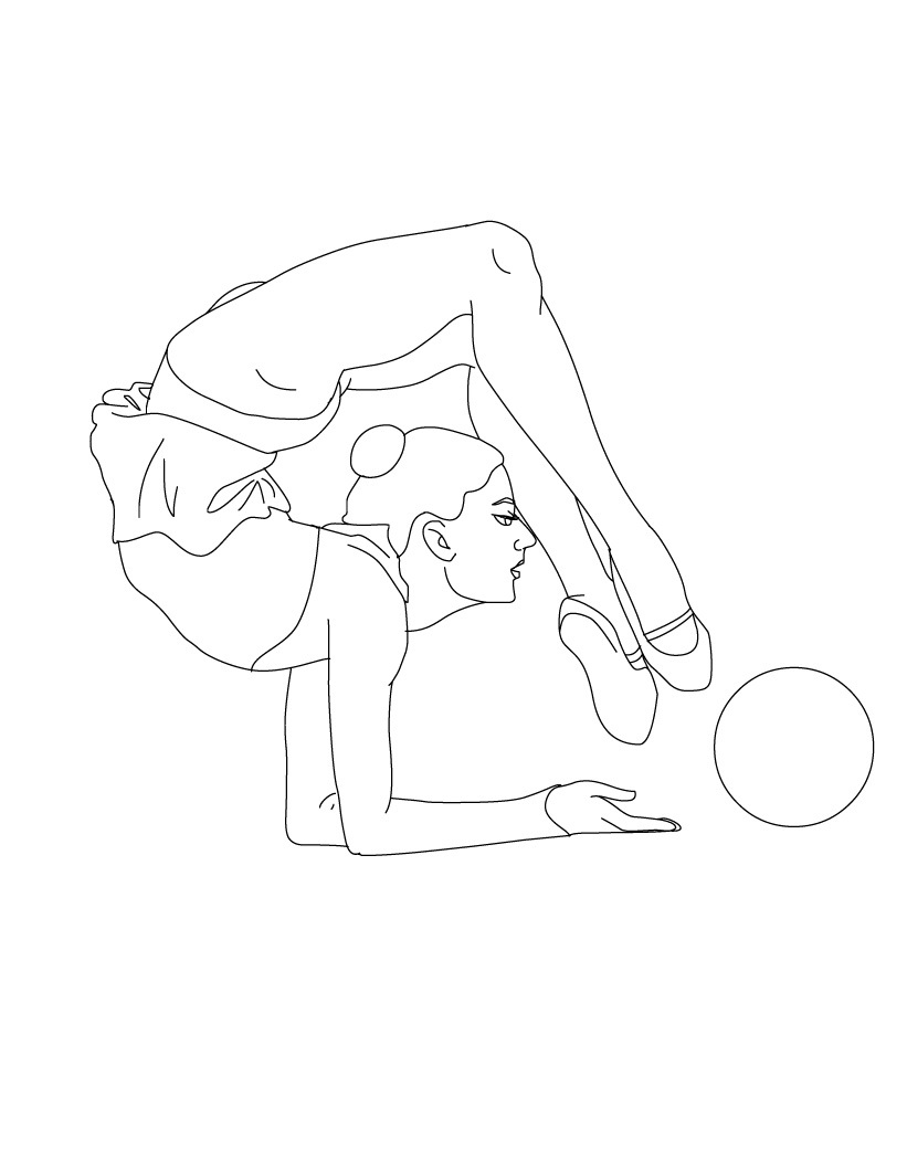821x1061 Free Printable Gymnastics Coloring Pages For Kids