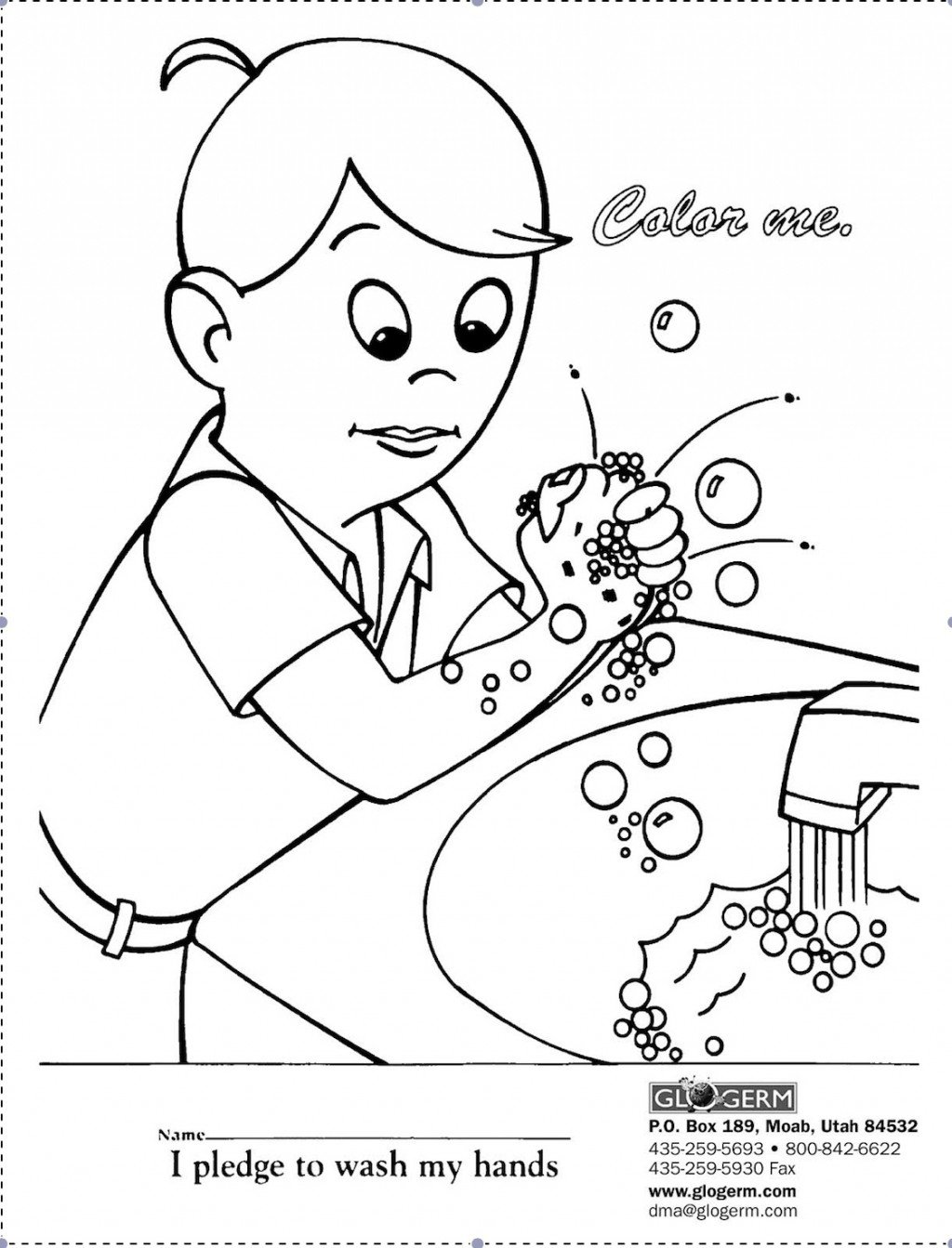 1024x1343 Hand Washing Coloring Pages