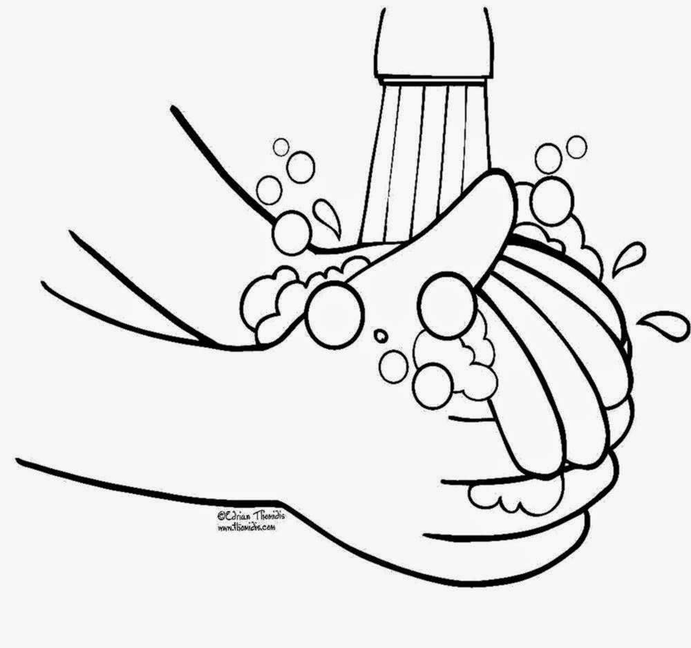1000x938 Printable Hand Washing Coloring Pages Gallery Pprintable Hand