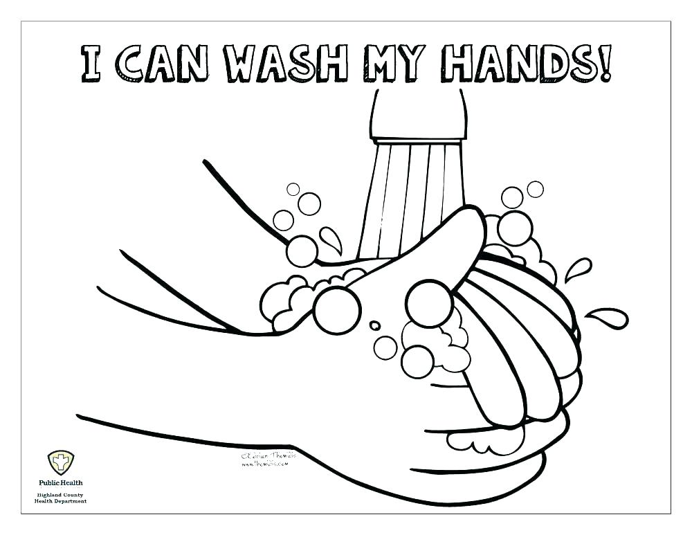 1000x773 Free Printable Hand Washing Coloring Pages Hand Washing Coloring