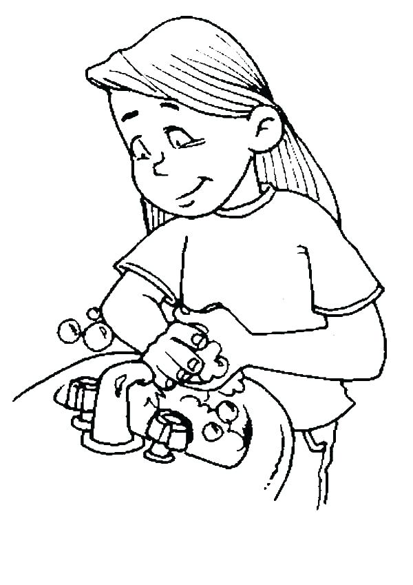 600x849 Wash Your Hands Coloring Page Hand Coloring Page Fresh Praying
