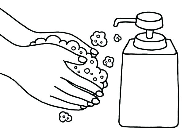 600x443 Free Printable Hand Washing Coloring Pages Coloring Ideas Pro