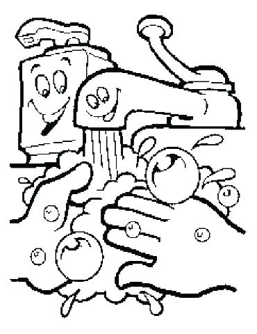 370x480 Printable Hand Washing Coloring Pages Hand Washing Coloring Page