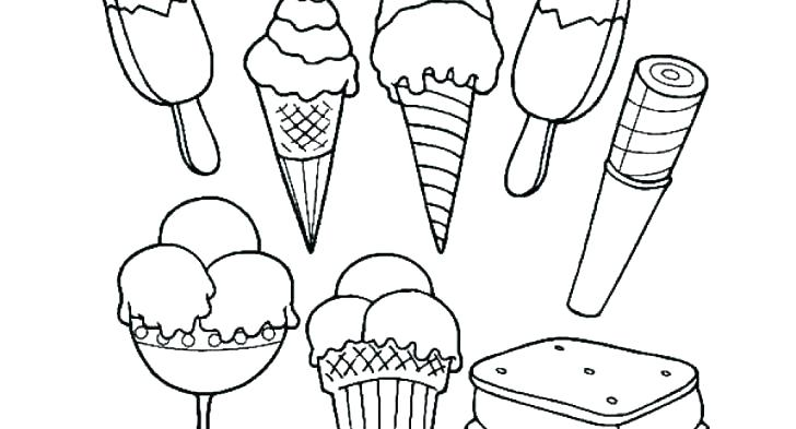 728x393 Ice Cream Color Page Ice Cream Cone Melting Coloring Pages Ice