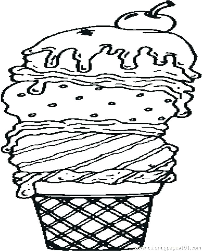 650x806 Ice Cream Coloring Pages Ice Cream Coloring Page Ice Cream Cone