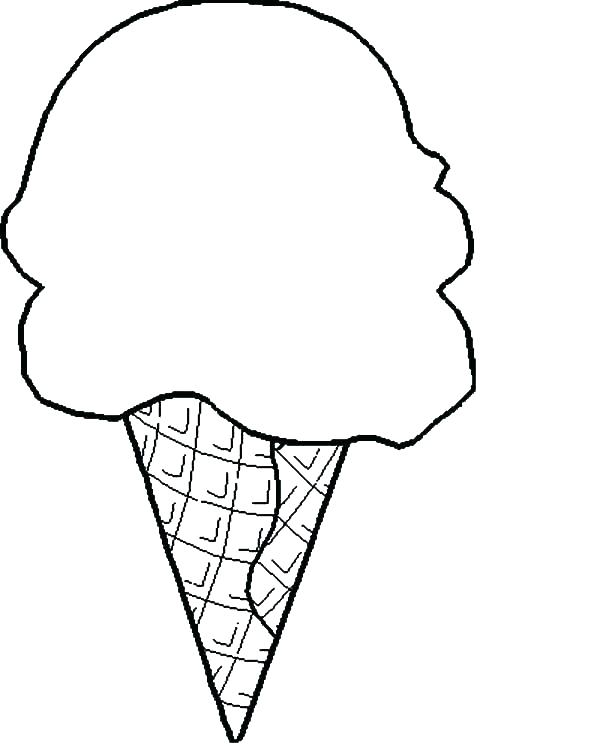 photograph relating to Printable Ice Cream Cone named Printable Ice Product Cone Coloring Web pages at