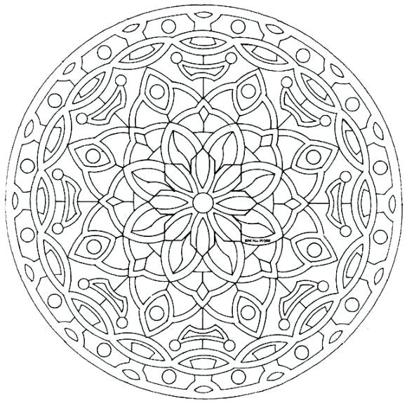 580x575 Kaleidoscope Coloring Pages Kaleidoscope Coloring Pages Concept
