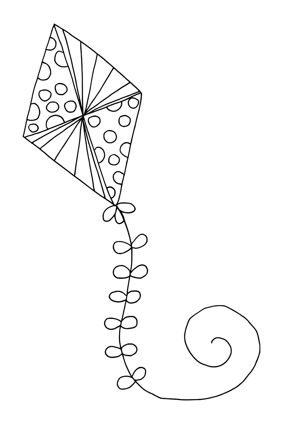 Printable Kite Coloring Page