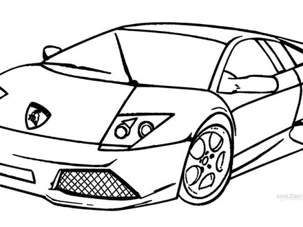 Printable Lamborghini Coloring Pages