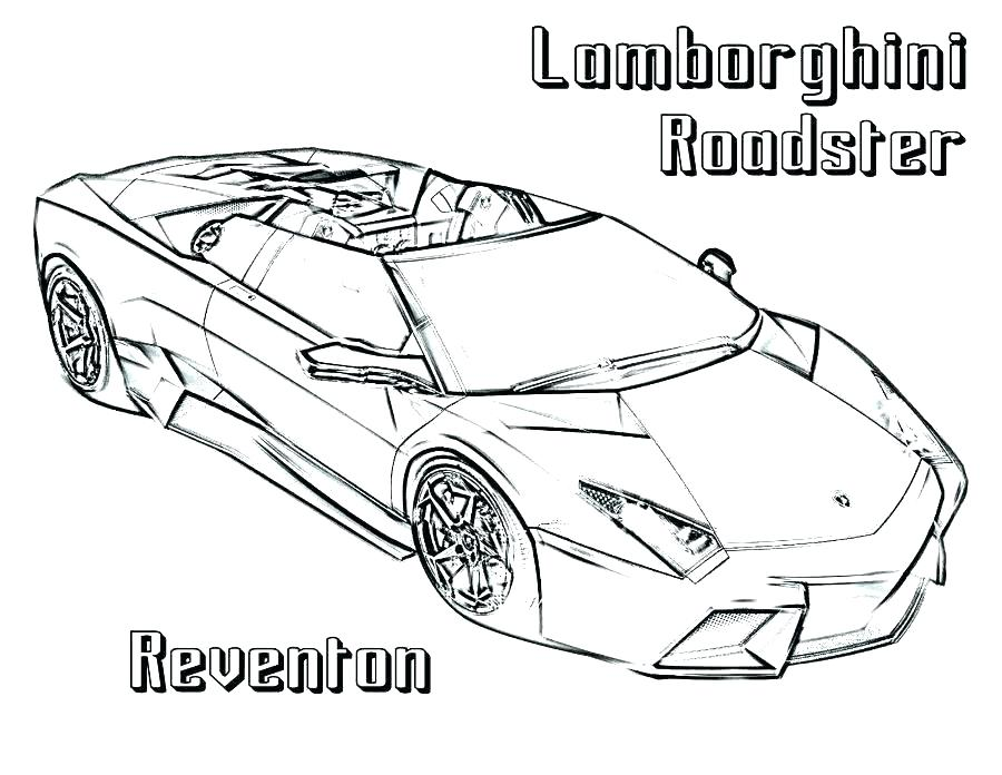900x696 Lamborghini Colouring Pages Printable Coloring For Kids To Print