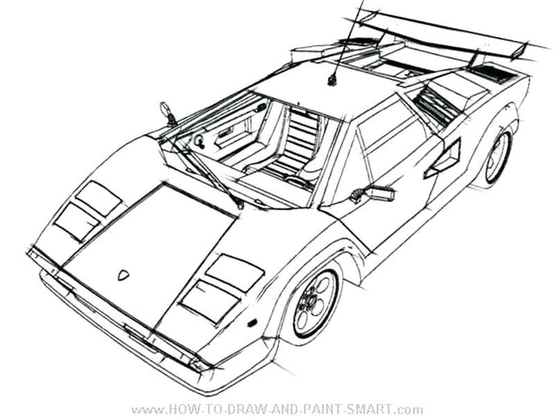 800x601 Lamborghini Countach Coloring Pages To Print For Free Lamborghini