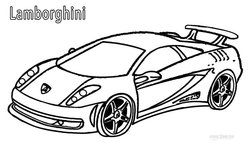 850x501 Printable Lamborghini Coloring Pages For Kids
