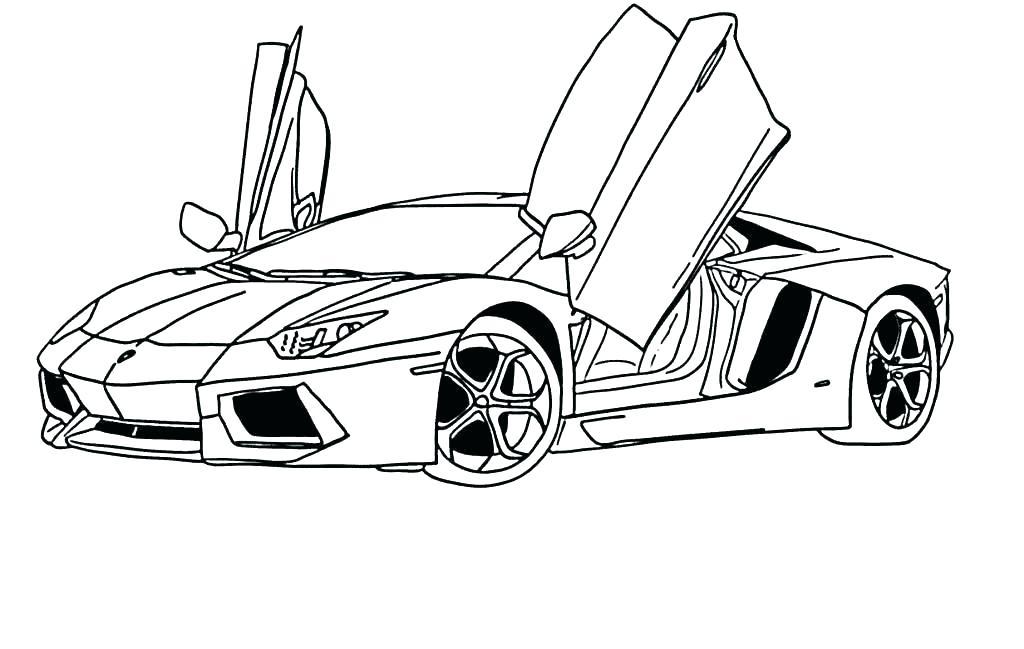 1024x649 Lamborghini Coloring Page