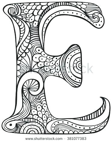 372x470 Letter Coloring Pages Free Printable Coloring Letter E Coloring