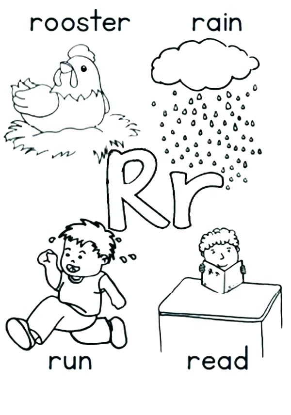 600x856 Letter Coloring Pages Printable Letter R Coloring Page Letter R