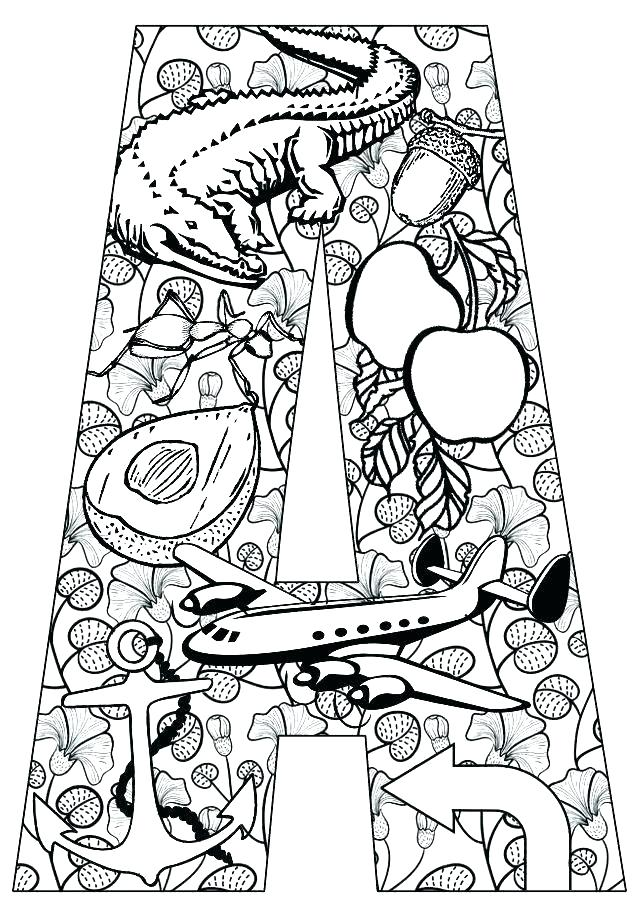 640x912 Letter Printable Coloring Pages Printable Letter Coloring Pages