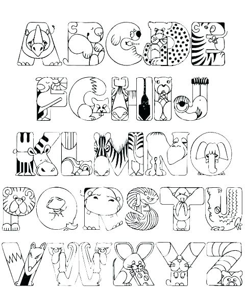 480x600 Printable Alphabet Coloring Pages Alphabet Coloring Pages A Z Free