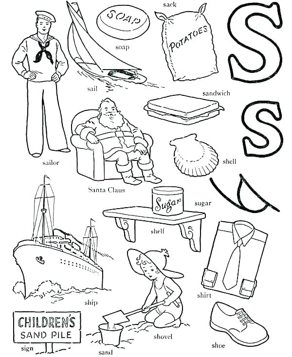 600x734 Letter Coloring Pages