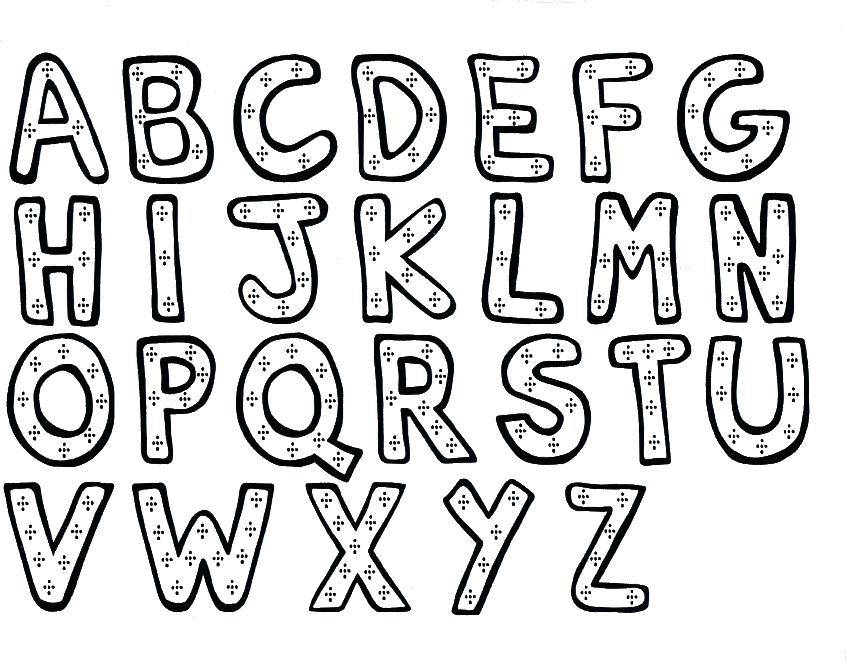 846x660 Letters Coloring Pages