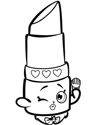 371x480 Lippy Lips Shopkins Coloring Page Beauty Lippy Lips Shopkin